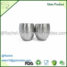BPA free Trendy round circle shape design double wall stainless steel beer mug for beer