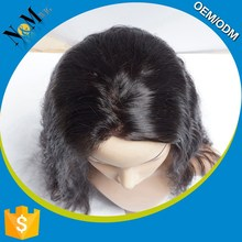 hongkong silk top lace front wig short full laced human hair for men