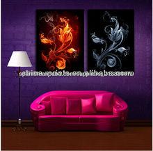 2014 nuevo diseño abstracto de la flora impresiones de la lona para la decoración