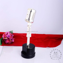 Singer & Host award metal microphone trophy