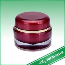 Acrylic red cream jar for cream