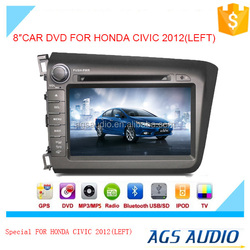 Wholesale car dvd player car DVD GPS Stereo for HONDA CIVIC 2012(RIGHT) In Dash Navigation Receiver