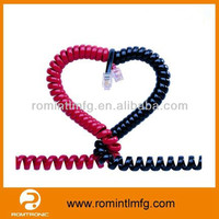 High quality network RJ45 8P8C coiled spiral cable