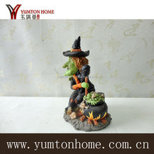 Customized polyresin witch figurines for Halloween