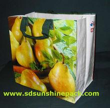 matt/glossy laminated pp woven bag for shopping