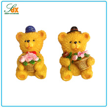 Newest new products love bear fridge magnet resin