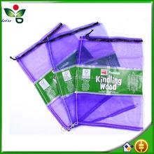 drawstring red pp leno mesh net bag for packing fruit vegetable