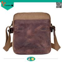 high quality crazy horse leather wholesale sport leisure shoulder bag for men vintage waterproof