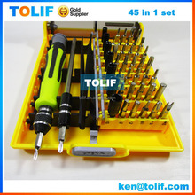 45 in 1 Screwdriver set Repair Tools For iphone lg mobile phone /laptop /radiator/tab/watch/glasses/TV/Computer/home appliance