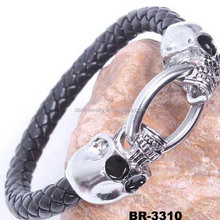 Yiwu factory wholesale jewelry clasp bracelets for men leather magnetic snake bracelet