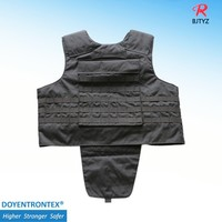 NIJ IIIA Black Molle Army Bulletproof Body Armor