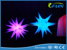 custom LED inflatable star with led light/decoration star for Christmas/outdoor led Christmas star