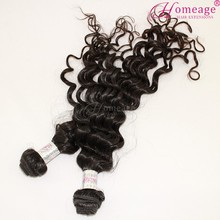 Homeage Natural curly hair wigs deep wave curl remy human hair ombre bundles hair weave