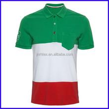 100% cotton custom two tone polo shirt,mens polo shirt