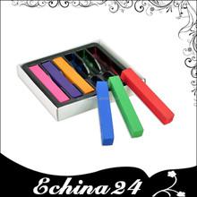 6 colores de pelo de la tiza del pelo temporal Soft Pastels pelo tizas con el Color del paquete de la caja