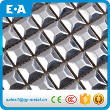 20x20 Square Silver Stainless Steel pyramid metal mosaic tiles