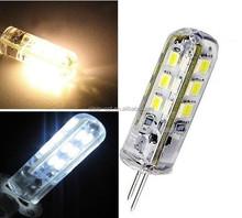 Mini G4 led lamp 24LEDS 3014 SMD silicon g4 LED 1.5w DC12V G4 led bulb