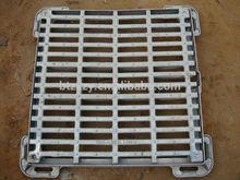 marco de hierro fundido y rejilla, rejillas de drenaje del foso de fundición, rejillas de drenaje