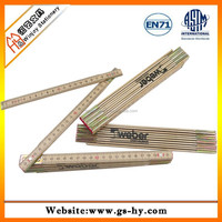 Ten fold 2 meter wooden rulers