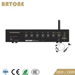 T-206 60W x 2 MP3 USB SD FM Bluetooth cheap wireless microphone