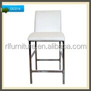 New design PU chair with chromed metal frame DC014