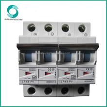 Polarity C20 DC 800V 6KA triangle indicator window 1P~4P manufacturer mini circuit breaker MCB