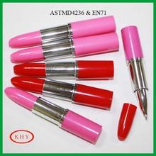 Plastic mini lipstick ballpoint pen for promotion gift