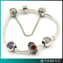 Beads Hunter Stunning Crystal Ball Heart Pave 925 Sterling Silver Cubic Zirconia Charms