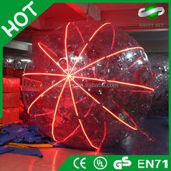 Amazing Dia 3m lighting huge inflatable ball, inflatable glitter zorbe ball, zorbing east anglia