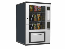 Hotel use coin operated easy management mini snack/coffee/instant noodle vending machine