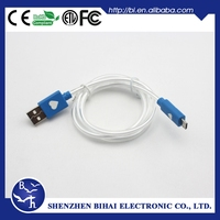 Top quality Visible Round led mini usb cable for samsung s3 s4