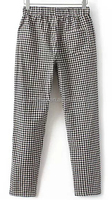 women fashion yarn dyed plaid leisure pants with strings at waist and pockets