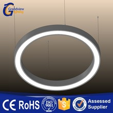 Office commercial lighting ring circular led pendant light with PMMA diffuser