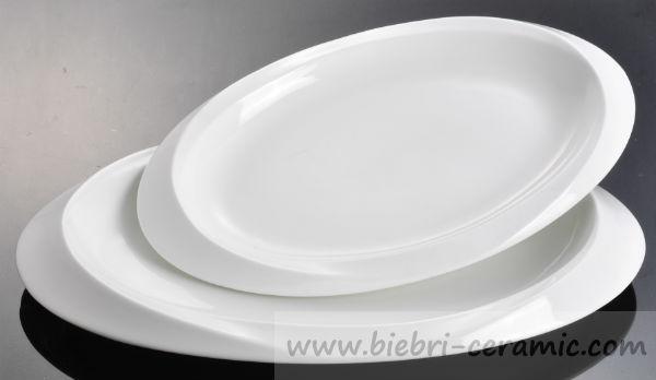 Restaurant Hotel Ceramic Porcelain Oval Shaped Dessert