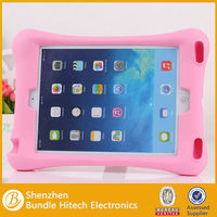 Hot selling tablet silicon silicone case for ipad5, for ipad air with stand