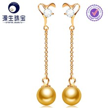 Bulk Wholesale Big Cheap pearl earring designs with golden colors