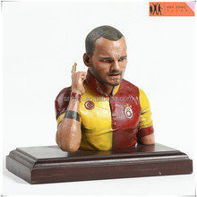 Sneijder football player bust statue figure,custom model PVC statue figure with base,OEM PVC figure model toys China factory
