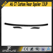 A6 C7 Carbon Fiber Rear Wings, 3pcs/set JC Style Auto Car Trunk Lid Racing Spoiler for Audi Non Sline