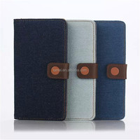 For Sony Xperia Z5 Premium Newest Denim Texture Flip Leather Case With Card Slots