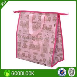 green reusable pp non woven bulk reusable shopping bags