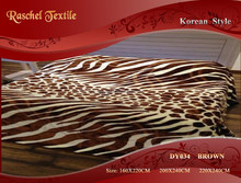 True 100% Polyester animal printed queen size royal mink blanket