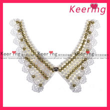 New design fashion handmade crochet embroidered lace collar