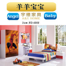 factory Eco-friendly 1.5m kid&child single bed set with bookshelf desk and nightstand