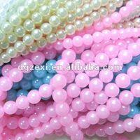 Decorative 12mm Snow White Plastic Pearl Jewelry