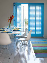 China paulownia shutter and wood blinds