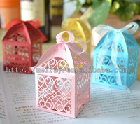 kids birthday party supplies ! birthday souvenir favor boxes for party , laser cut mini cake boxes from Mery Crafts in china