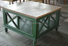 Cheap Antique Square Wooden Coffee Table