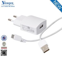 Veaqee USB Universal Travel Charger/Wall Adapter Charging Port EU Plug for samsung
