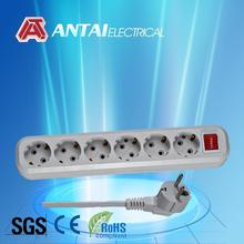 250V Safety 6 way electric extension sockets