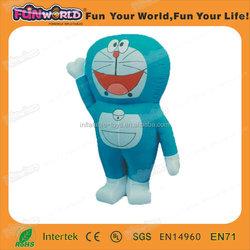 Custom advertising commercial inflatable doraemon cartoon